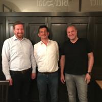v.l.n.r.>: Christian Schürmann, Richard Hillmeier, Stefan Schlager