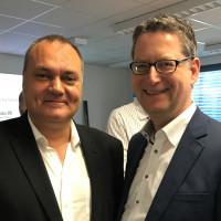 v.l.n.r.: Hannes Gräbner, SPD-Bundestagskandidat, und Thorsten Schäfer-Gümbel, stv. Bundesvorsitzender der SPD
